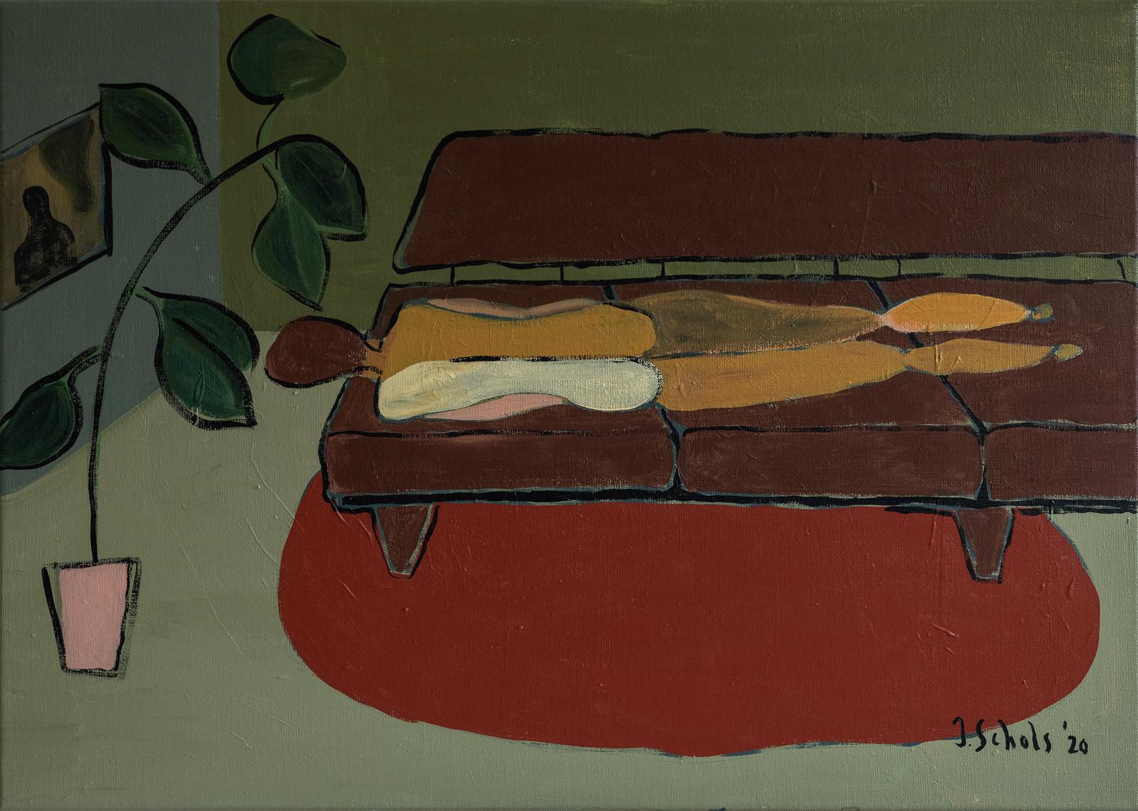 MORE INFO & PRICINGTitle: Op de sofaAcrylics on linen canvas70 x 50 cmMore details 'Op de sofa'