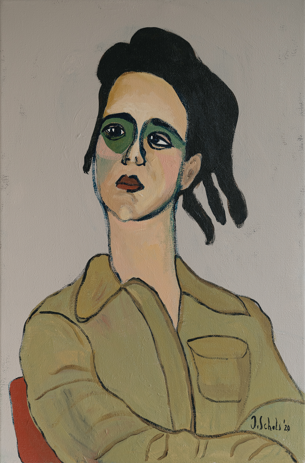 MORE INFO & PRICINGTitle: ZelfportretAcrylics on linen canvas40 x 60 cmMore details 'Zelfportret'